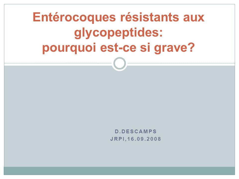 Entérocoques résistants aux glycopeptides: pourquoi est-ce si grave