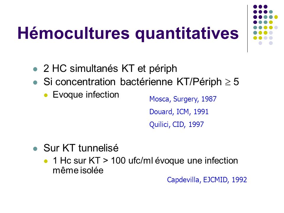 Hémocultures quantitatives