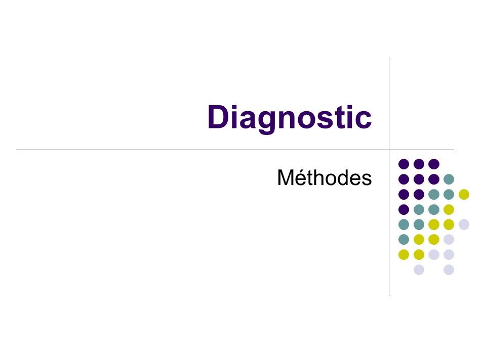 Diagnostic Méthodes