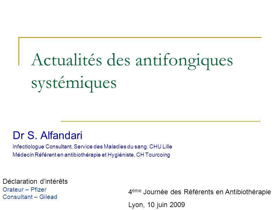 Actualités des antifongiques systémiques