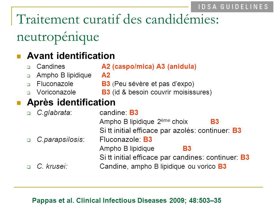Traitement curatif des candidémies: neutropénique