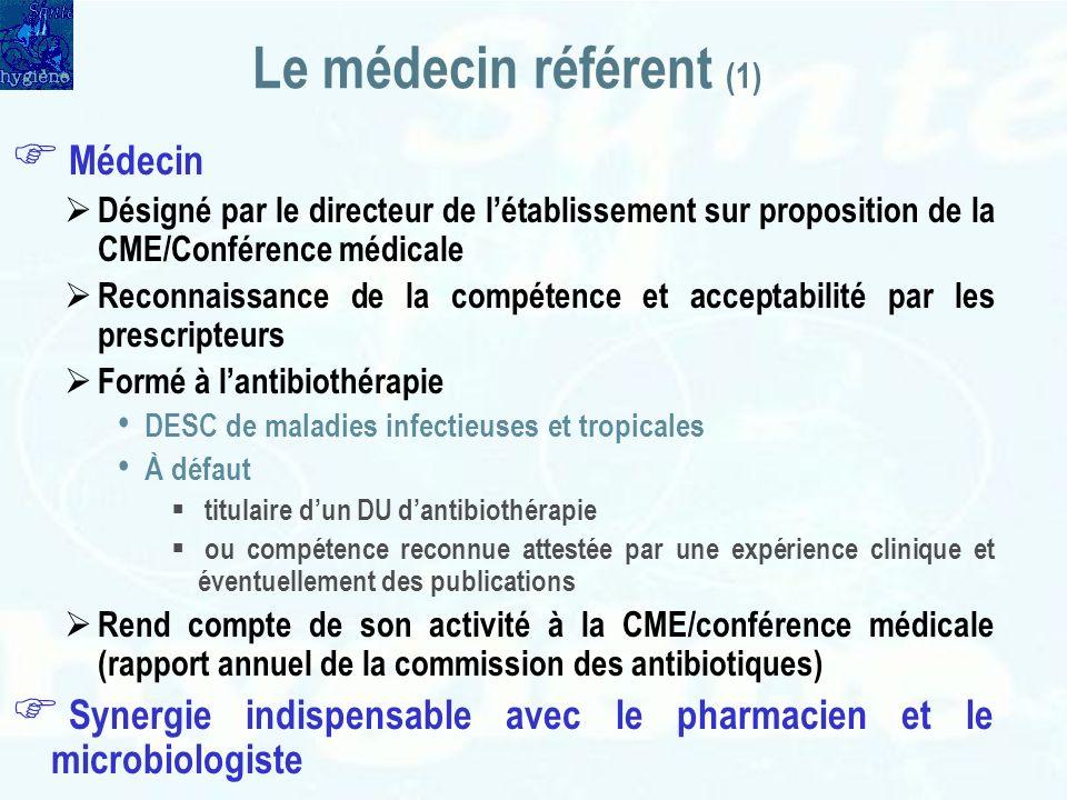 Le médecin référent (1) Médecin
