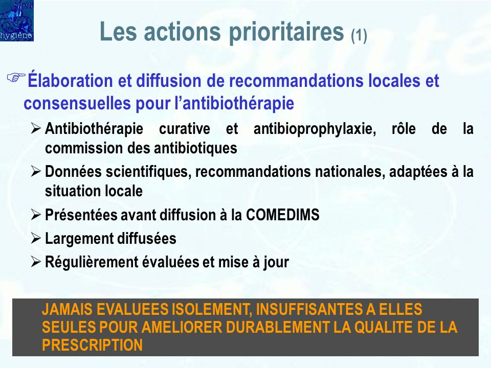 Les actions prioritaires (1)