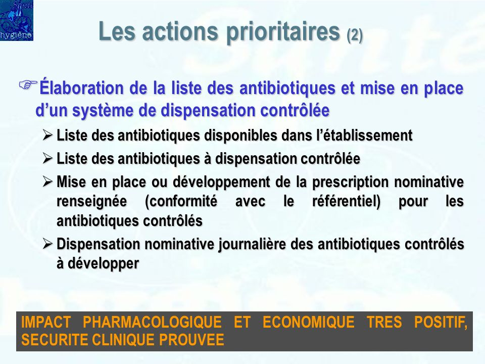 Les actions prioritaires (2)