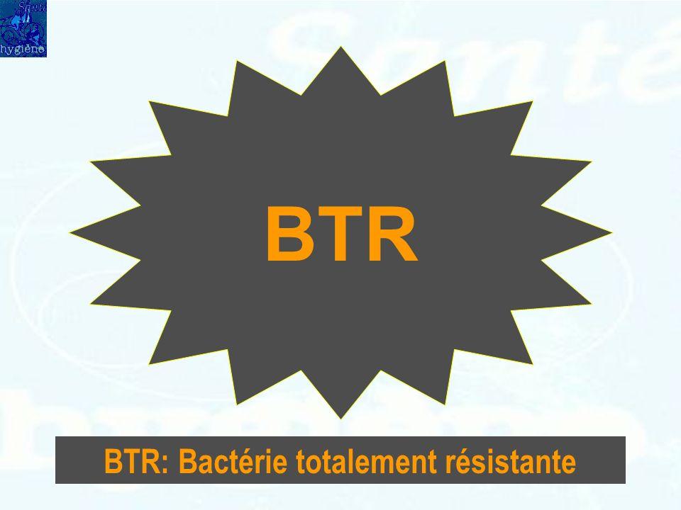 BTR: Bactérie totalement résistante