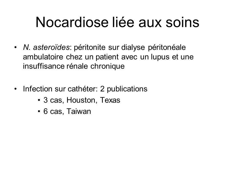 Nocardiose liée aux soins