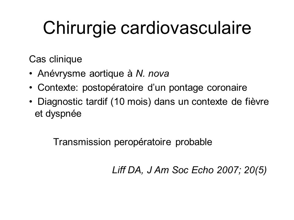 Chirurgie cardiovasculaire
