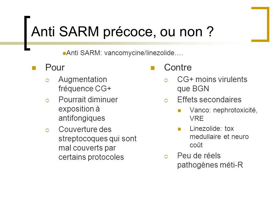 Anti SARM précoce, ou non