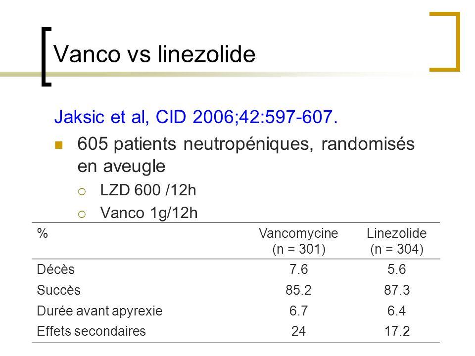 Vanco vs linezolide Jaksic et al, CID 2006;42:597-607.