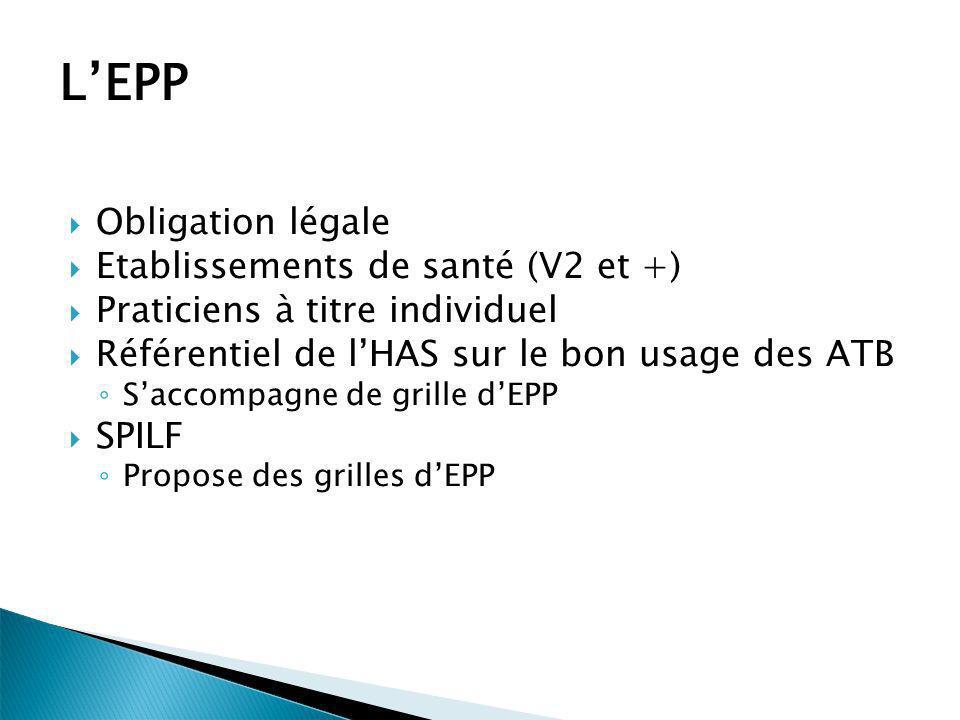 L'EPP Obligation légale Etablissements de santé (V2 et +)
