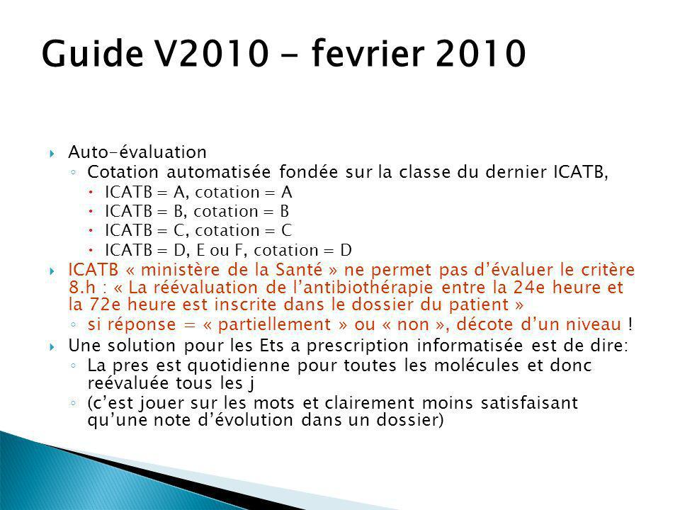 Guide V2010 - fevrier 2010 Auto-évaluation