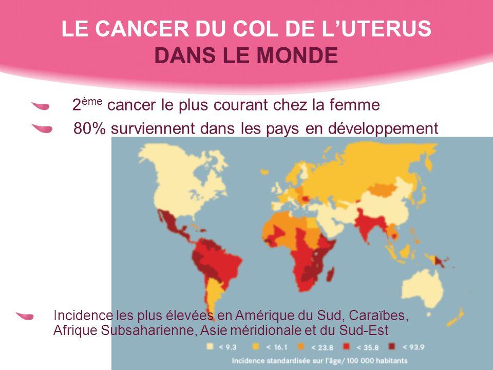 LE CANCER DU COL DE L'UTERUS DANS LE MONDE
