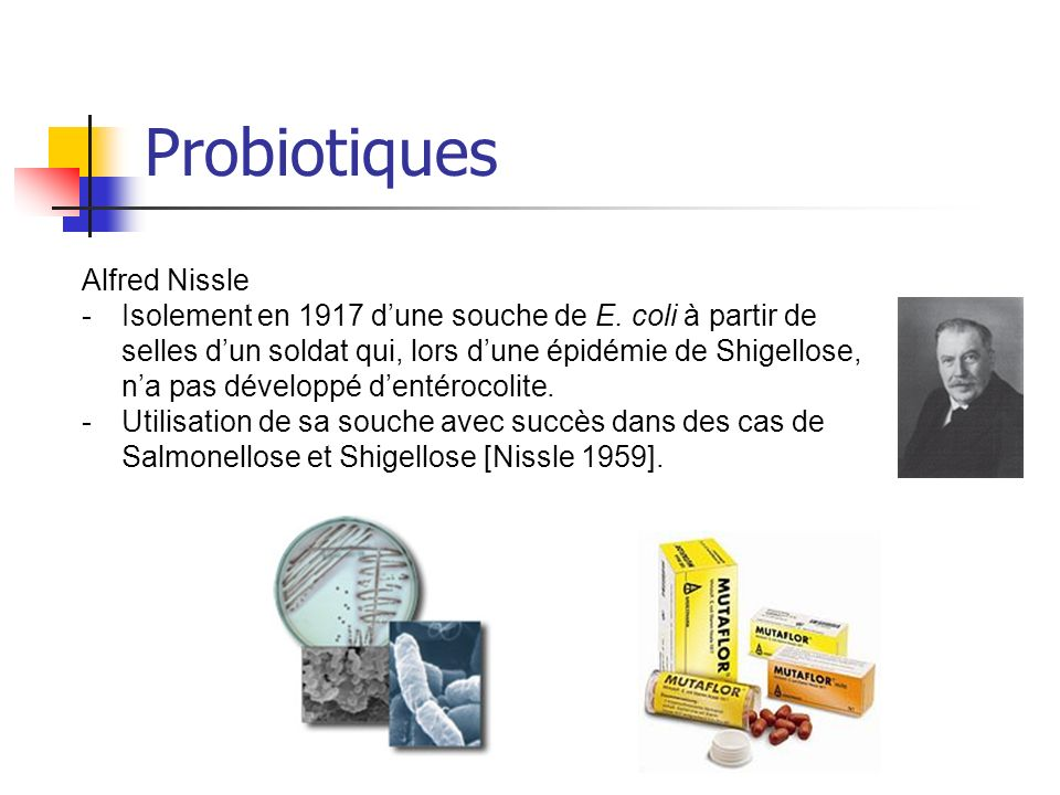 Probiotiques Alfred Nissle