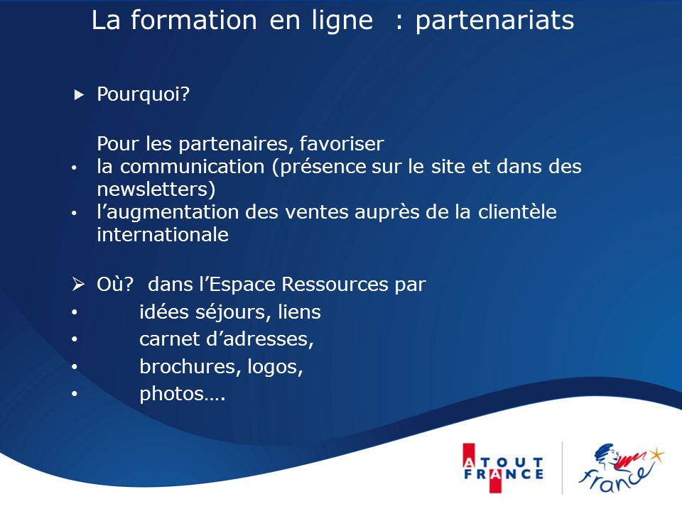 La formation en ligne : partenariats