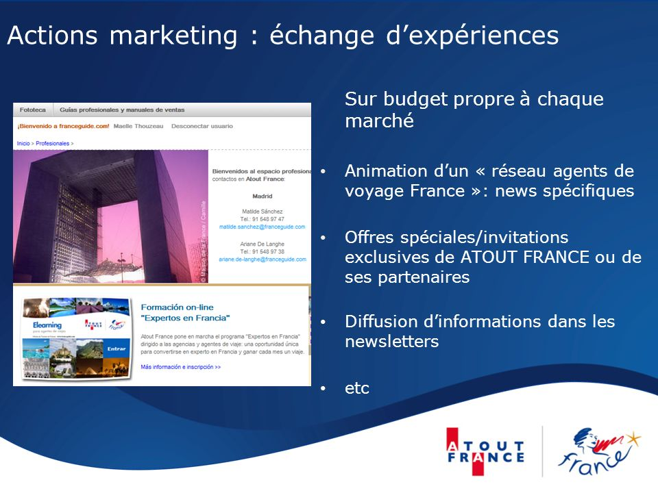 Actions marketing : échange d'expériences