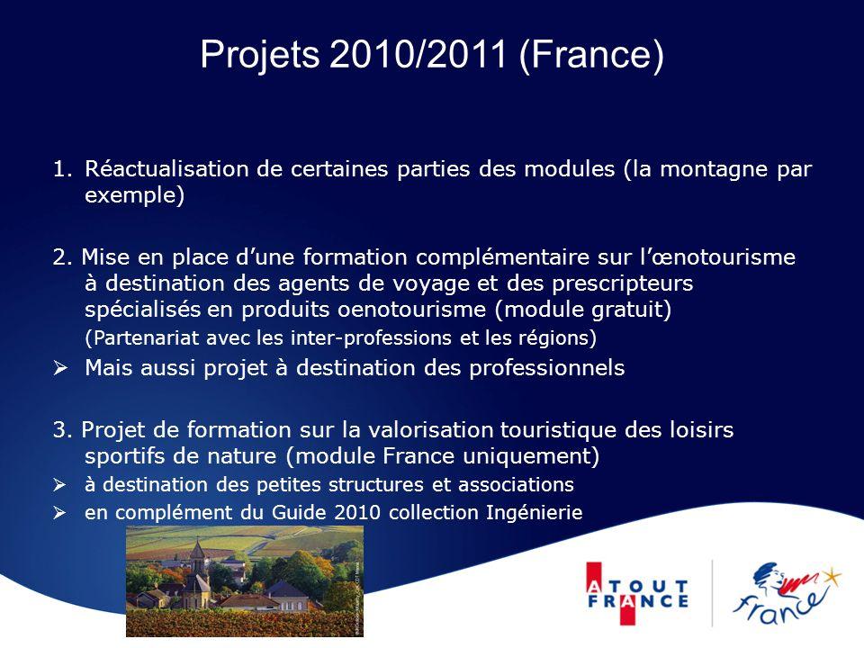 Projets 2010/2011 (France) Réactualisation de certaines parties des modules (la montagne par exemple)