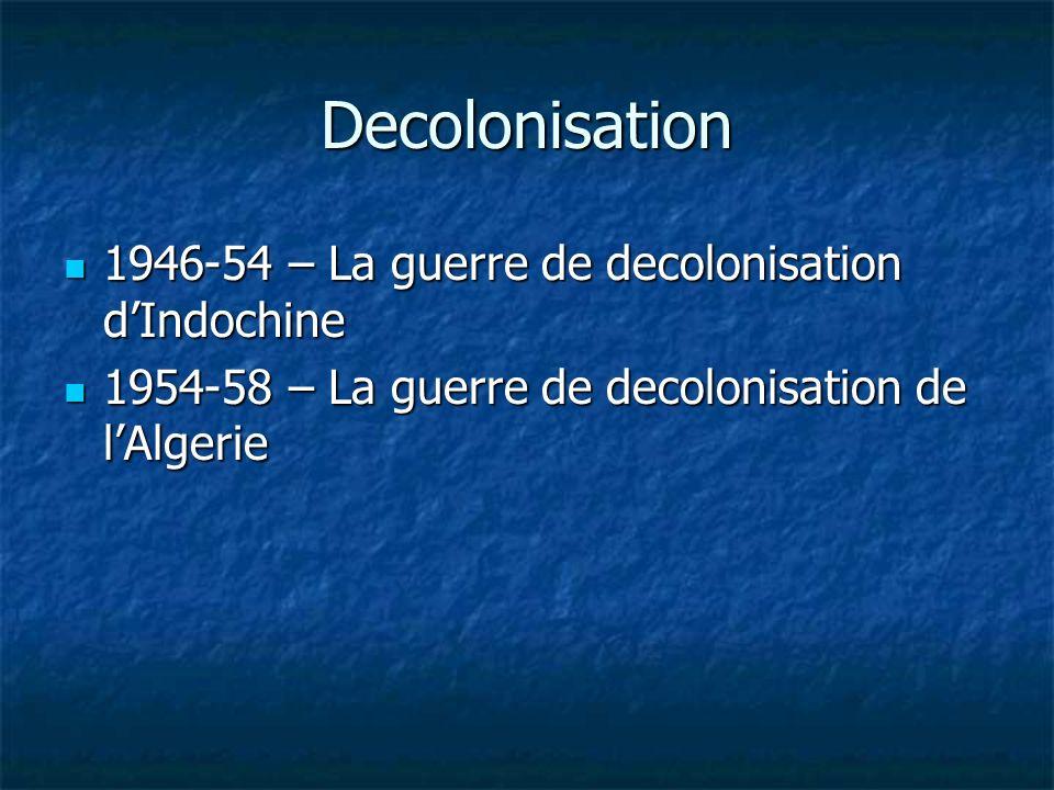 Decolonisation 1946-54 – La guerre de decolonisation d'Indochine