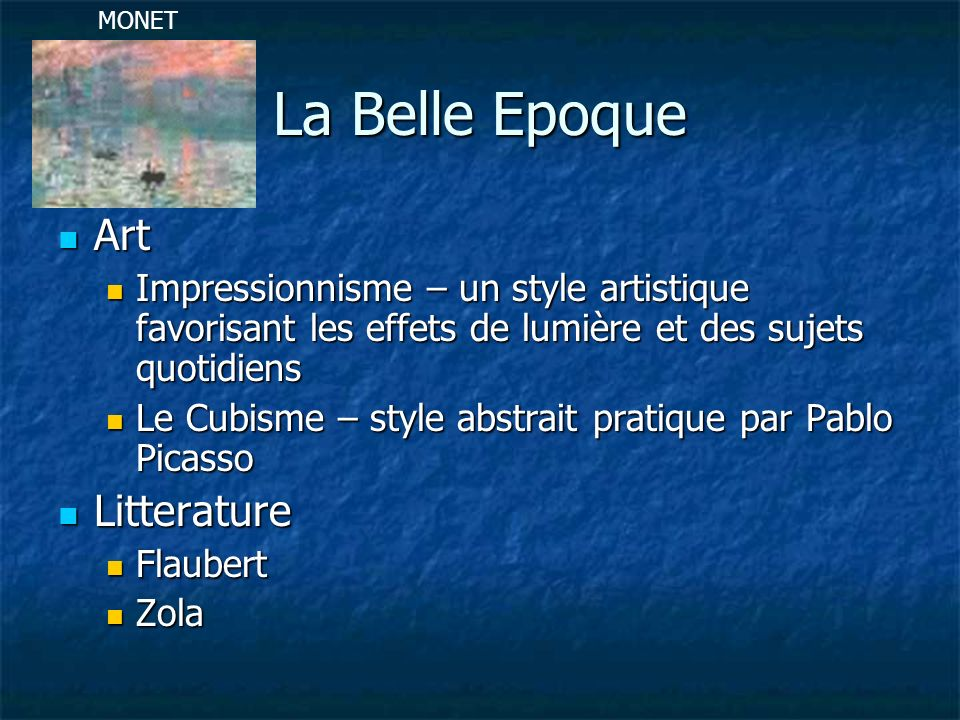 La Belle Epoque Art Litterature