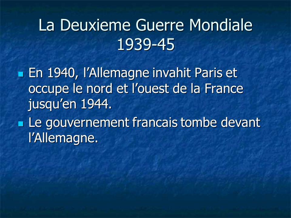 La Deuxieme Guerre Mondiale 1939-45