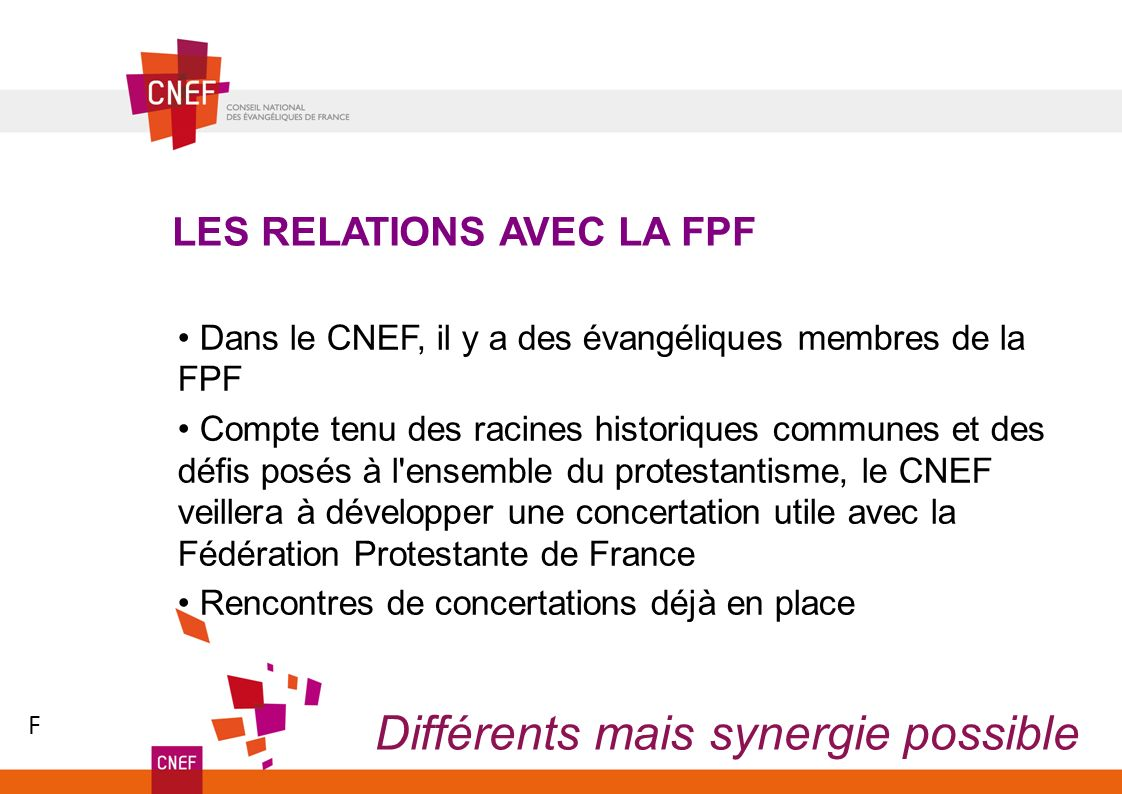 Différents mais synergie possible