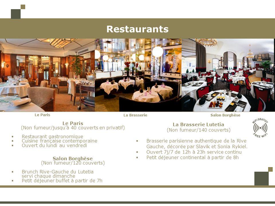 Restaurants Le Paris (Non fumeur/jusqu'à 40 couverts en privatif)