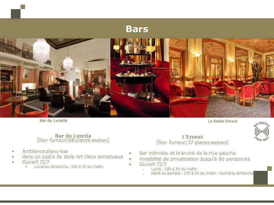 Bars Bar du Lutetia L'Ernest (Non fumeur/68 places assises)