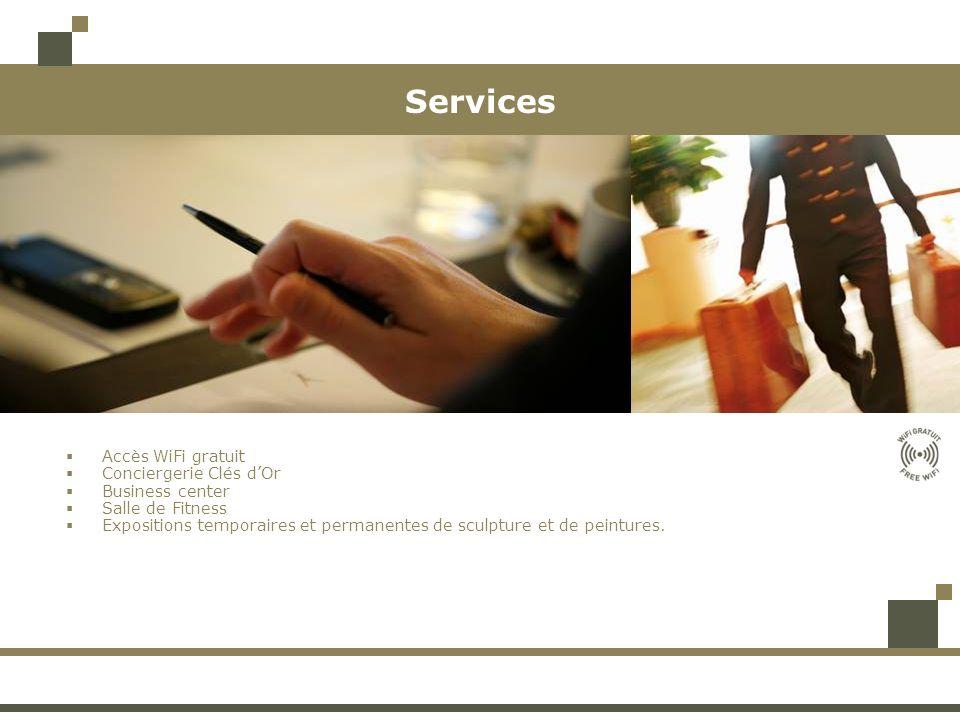 Services Accès WiFi gratuit Conciergerie Clés d'Or Business center