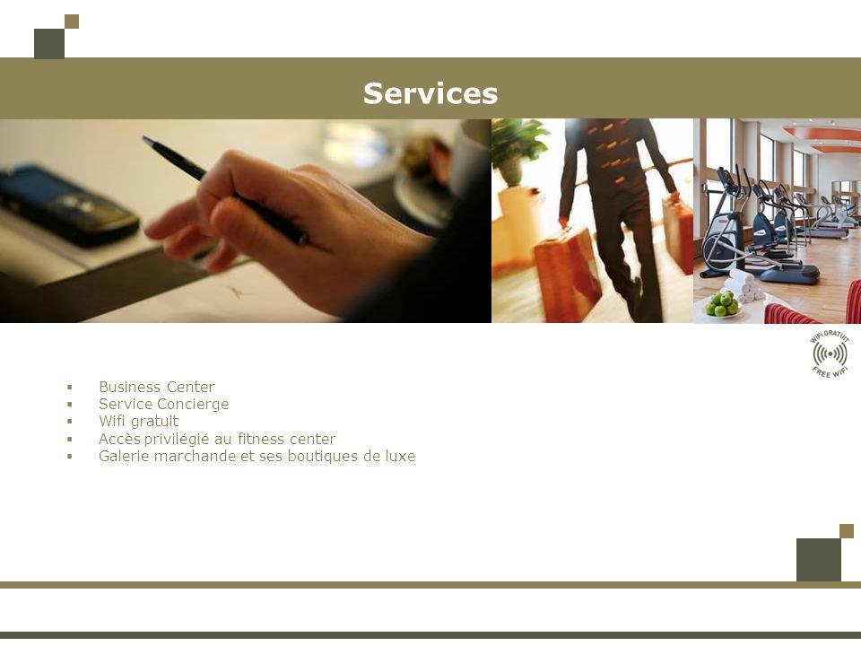 Services Business Center Service Concierge Wifi gratuit