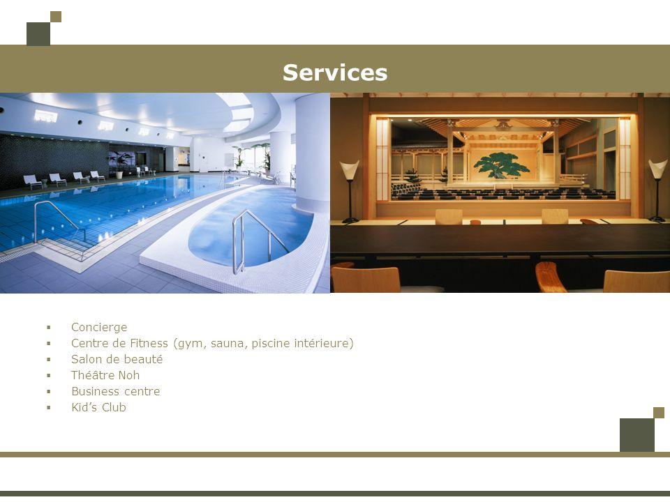Services Concierge Centre de Fitness (gym, sauna, piscine intérieure)