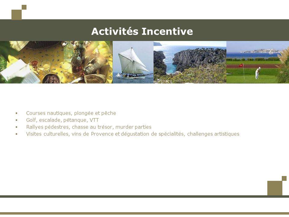 Activités Incentive Courses nautiques, plongée et pêche