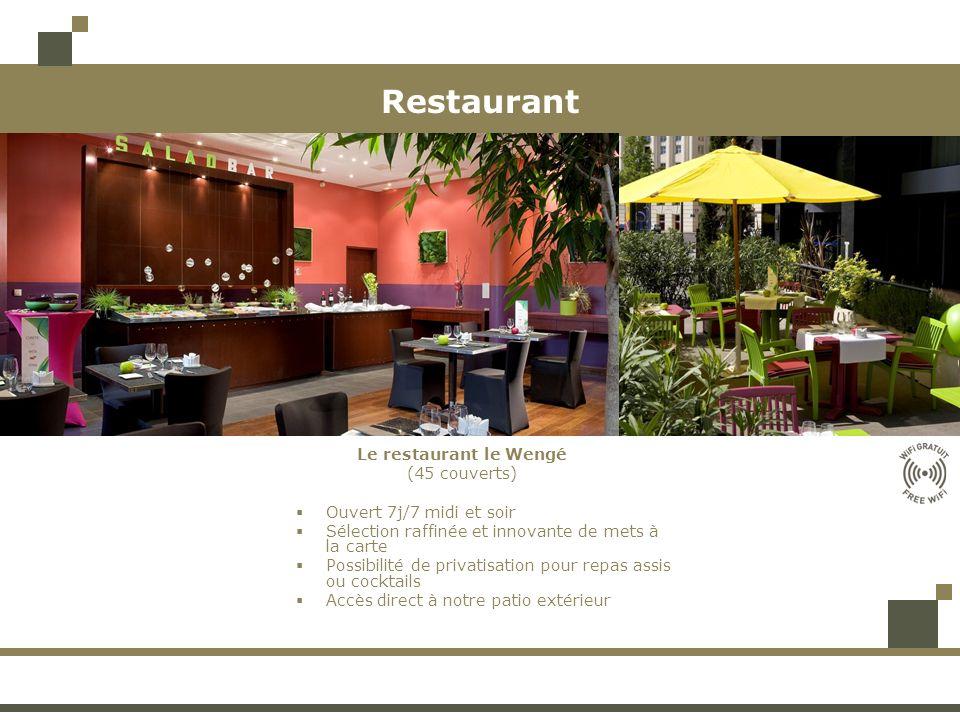 Restaurant Le restaurant le Wengé (45 couverts)