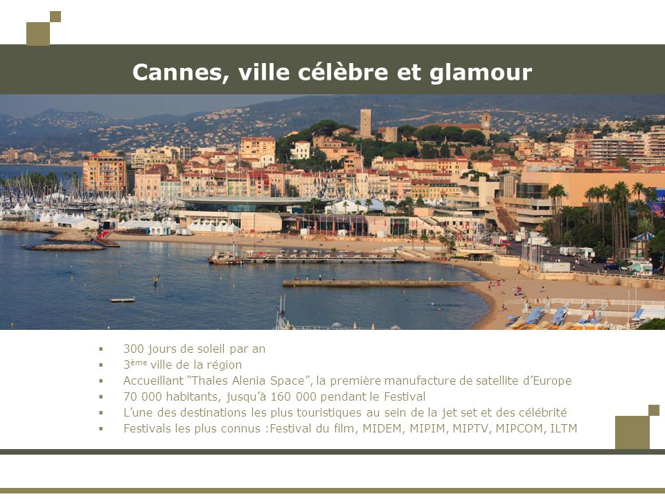 Cannes, ville célèbre et glamour