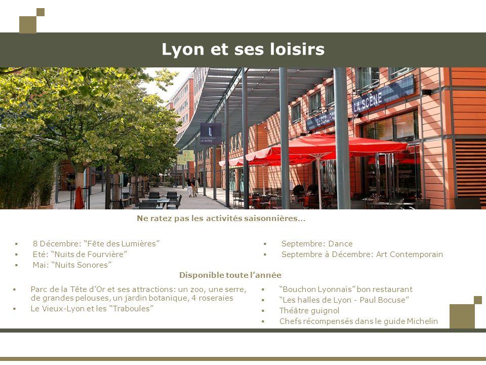 Lyon et ses loisirs Ne ratez pas les activités saisonnières…