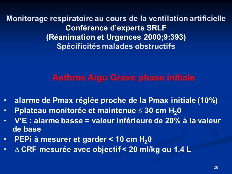 Asthme Aigu Grave phase initiale