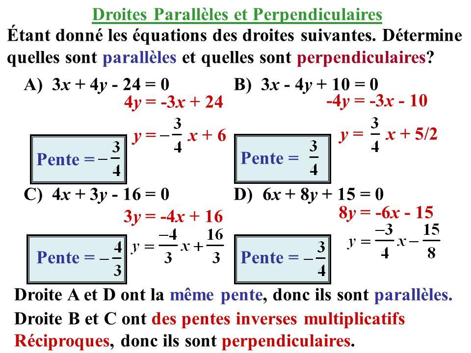 Droites Parallèles et Perpendiculaires
