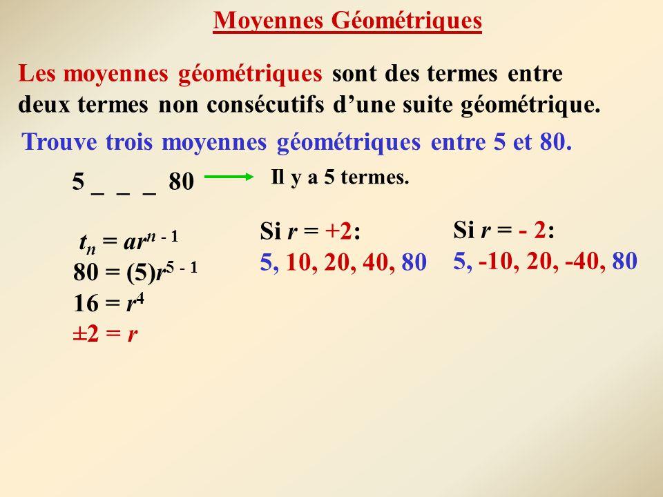 Moyennes Géométriques