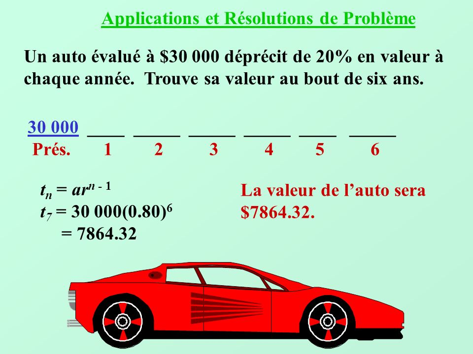 Applications et Résolutions de Problème