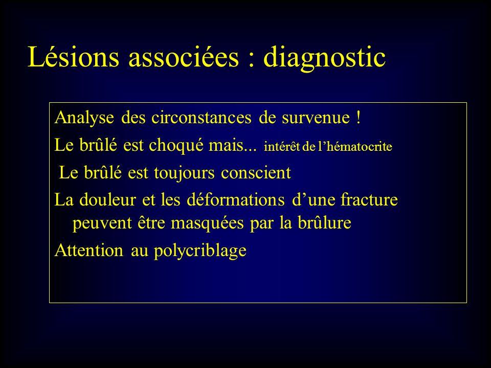 Lésions associées : diagnostic
