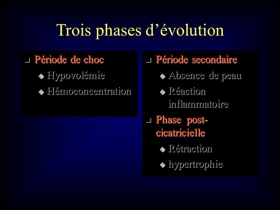 Trois phases d'évolution