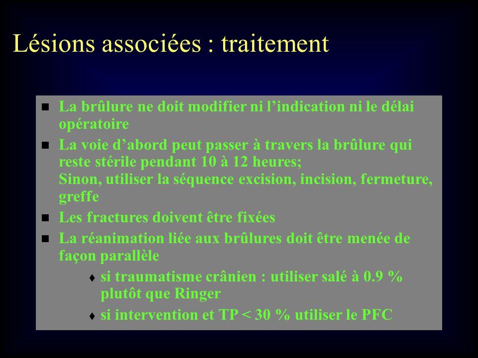 Lésions associées : traitement