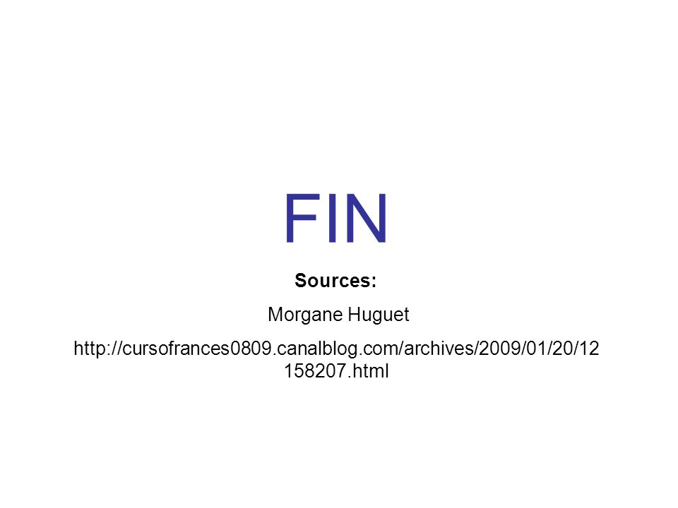 FIN Sources: Morgane Huguet