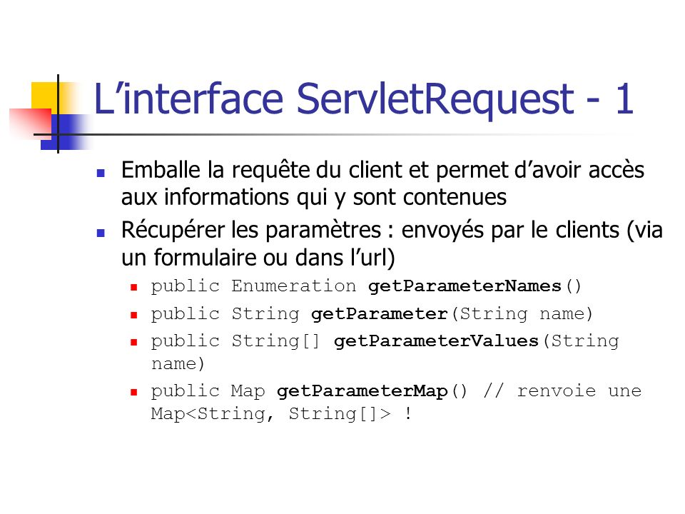 L'interface ServletRequest - 1