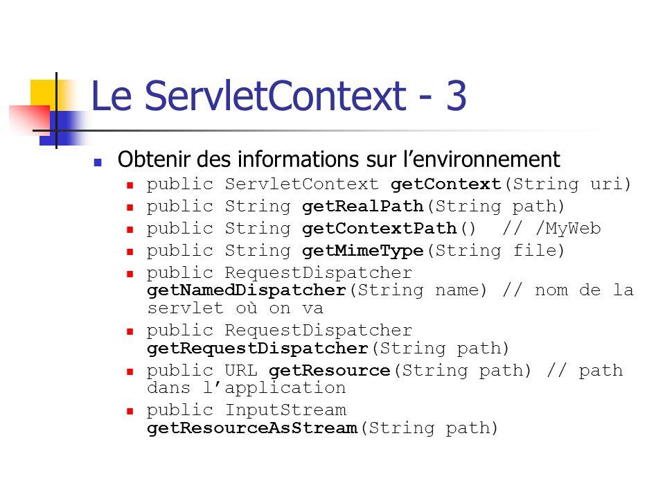 Le ServletContext - 3 Obtenir des informations sur l'environnement