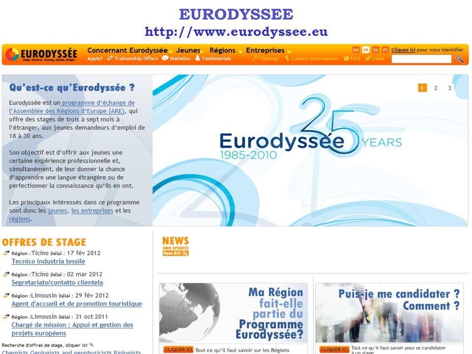 EURODYSSEE http://www.eurodyssee.eu