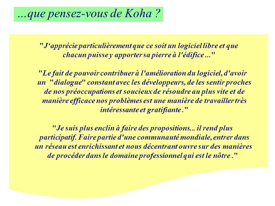 …que pensez-vous de Koha