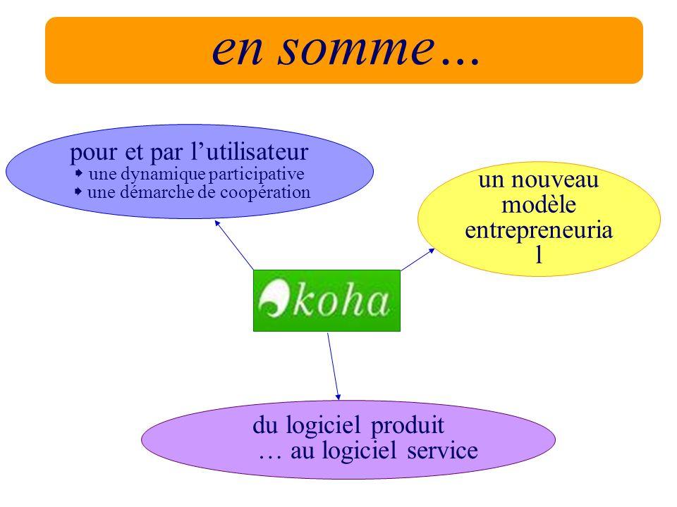 en somme… pour et par l'utilisateur un nouveau modèle entrepreneurial