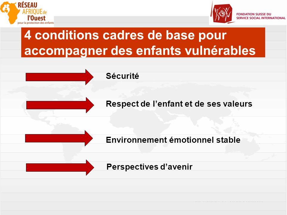 4 conditions cadres de base pour accompagner des enfants vulnérables
