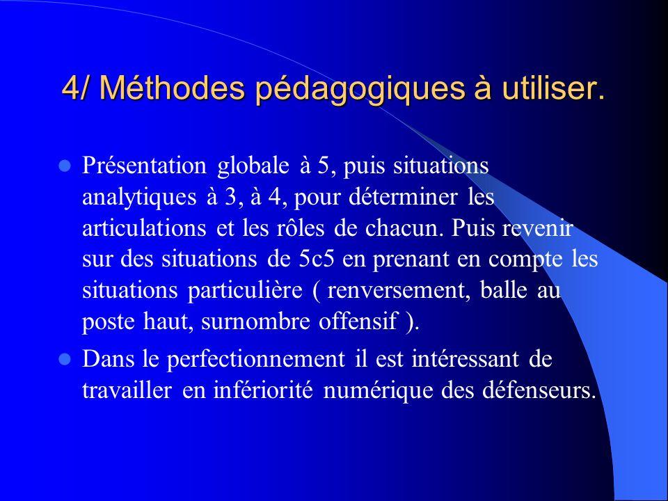 4/ Méthodes pédagogiques à utiliser.