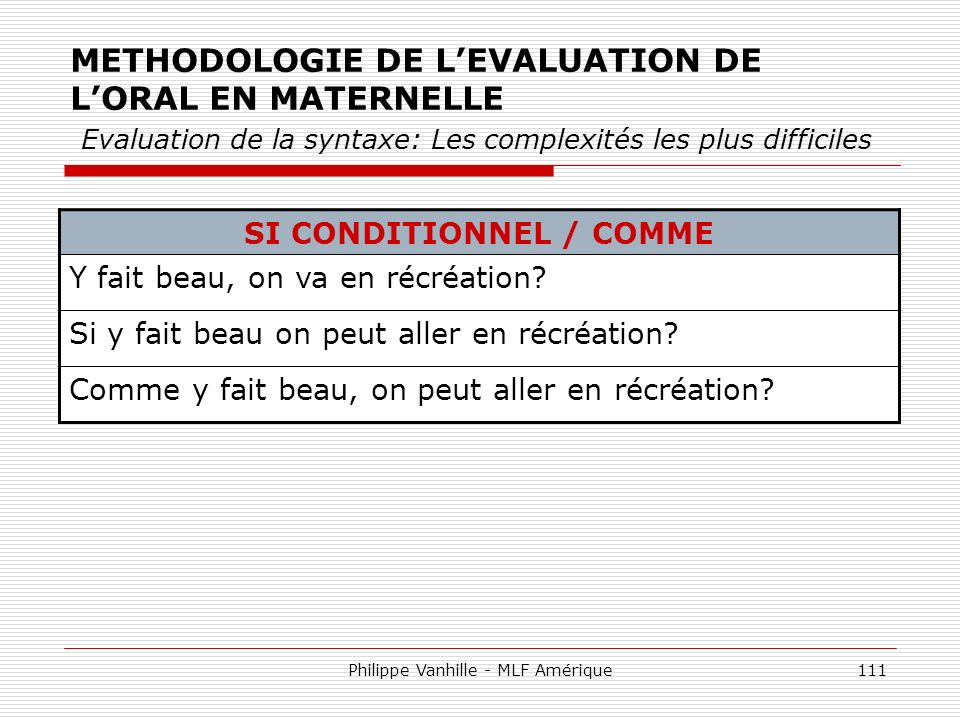 SI CONDITIONNEL / COMME