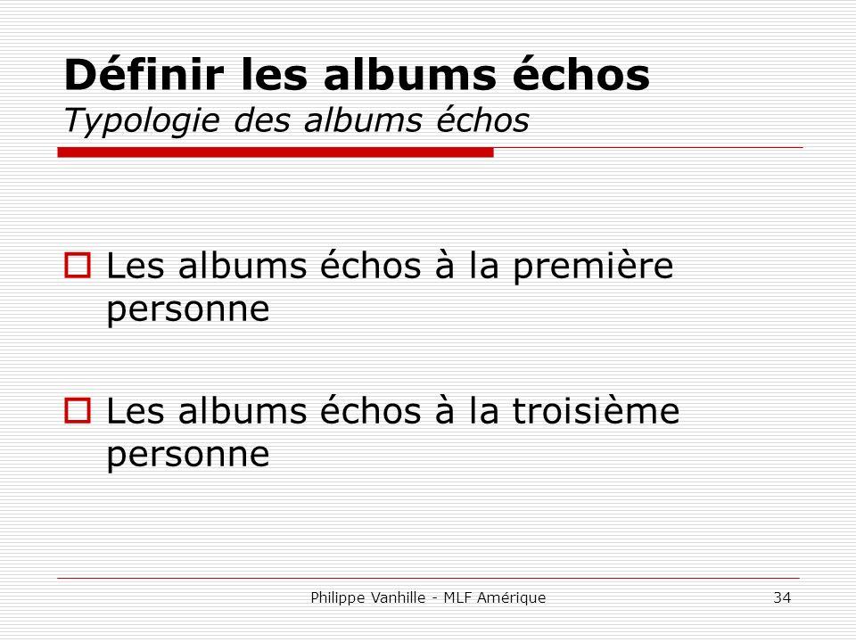 Définir les albums échos Typologie des albums échos